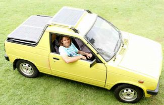 Aiden Van Andels converted Suzuki Mighty Boy Solar powered car