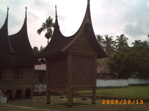 Rangkiang, the building that is used to be found in a Rumah Gadang whose function is to store the rice that will be consumed by the occupants of the traditional house.