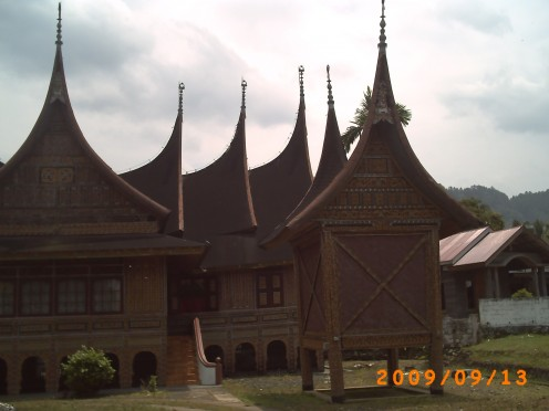 Another look of the Rumah Gadang.