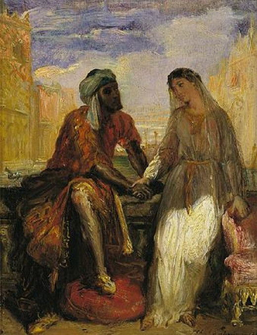 Othello and Desdemona, husband and wife, in happy times