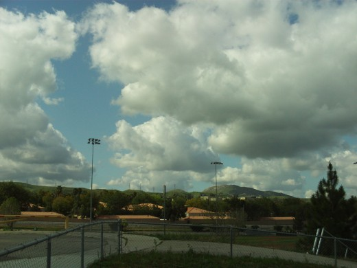 Clouds over a park in Southern California.