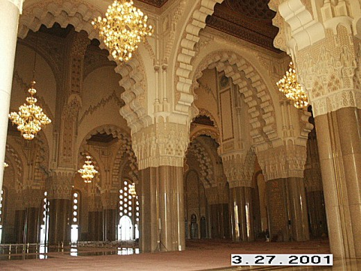 Prayer Hall, Hassan II Mosque, Casablanca, Morocco.