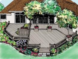 A Patio's Design (3D View)
