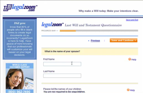 From LegalZoom: LOOK IN THE TOP LEFT CORNER-80% of people make mistakes when filling out legal forms by themselves.