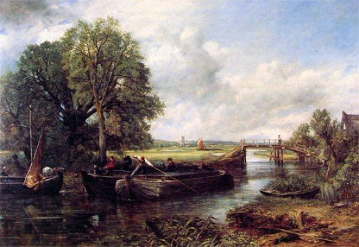 View on the Stour near Dedham by John Constable, 1822
