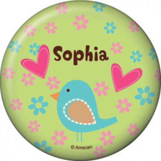 Hippie Chick Personalized Button