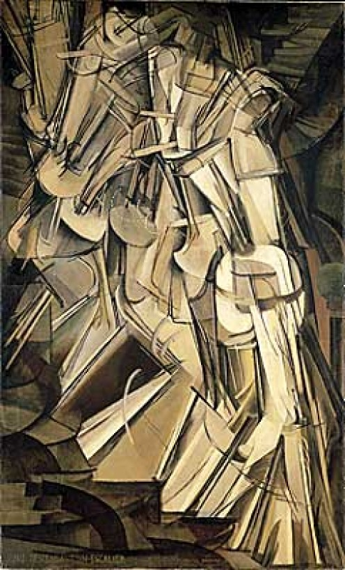(Marcel Duchamp. ''Nude Descending a Staircase, No. 2'' 1912. Oil on canvas. Philadelphia Museum of Art.. Image via Wikipedia