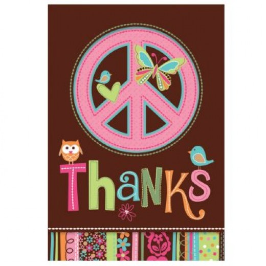 Hippie Chick Thank You Card