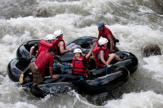 Tubing on the Mindo River