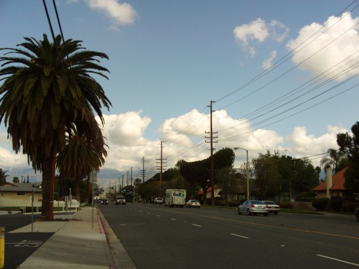 The clouds exemplify how it is not always sunny in Southern California.