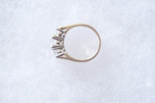 """Engagement ring found in swamp - 12"""" of water Lost while handling a northern pike"""