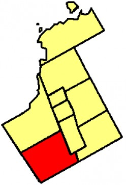 Map location of Vaughan, Ontario