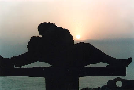 El beso (The Kiss statue) at sunset!