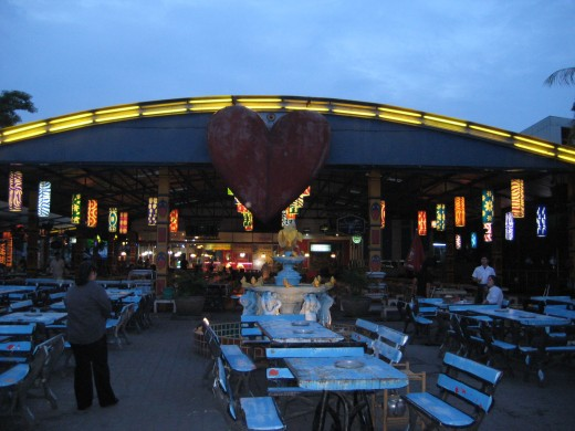 Family Restaurant BBQ is one big outdoor restaurant.