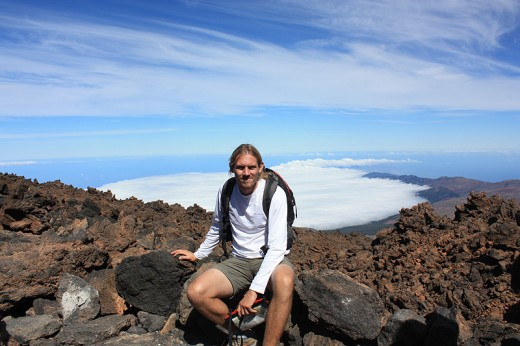 David Parkes on Mt Teide