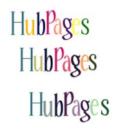 "1. How I perceive ""HubPages"".   2. If ""ub"" were tinted the same color as ""H"" and ""ages"" were tinted the same color as P.  (fabricated possibility - not mine) 3. If all letters were tinted the same color as ""H"". (fabricated possibility - not mine)"