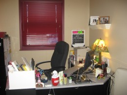 My Home away from home. My desk.