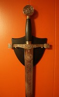 Excalibur, The Magic Sword from Avalon, missing the magic scabbard sewn by Morgaine to keep Arthur safe