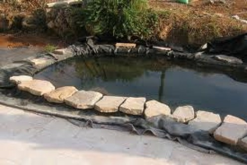 How to make a small water garden or fish pond hubpages for Garden pond stones