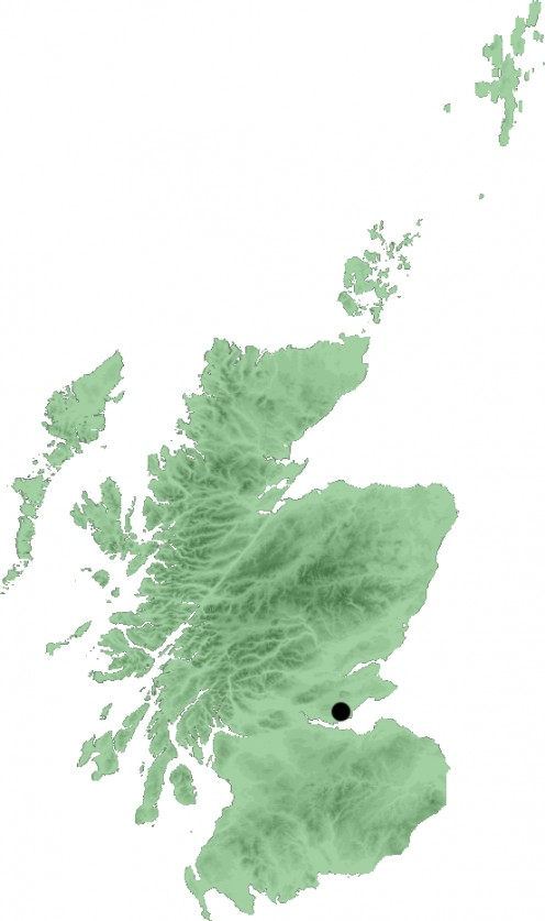 Map location of Dunfermline, Scotland