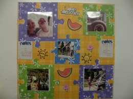 Summer Fun Scrapbook Layout