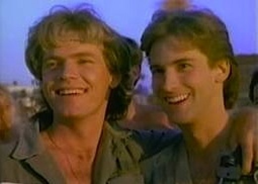 "Bruce Greewood & Michael David Wright as brothers in ""The Malibu Bikini Shop"""