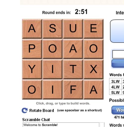 A Scramble Screenshot (click to enlarge)