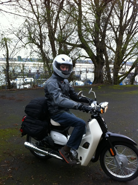 Me on my new SYM Symba scooter.