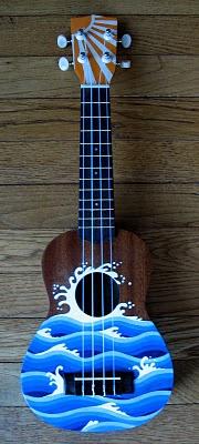 Painted ukulele