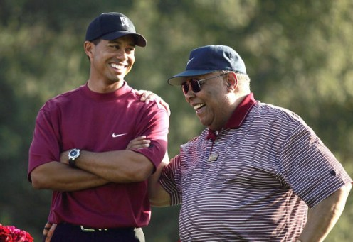 Tiger and dad, Earl Woods