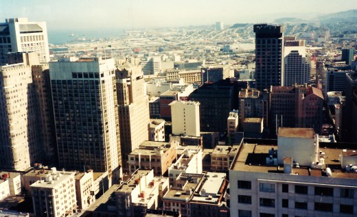 Cityscapes from Top of the Mark in San Francisco