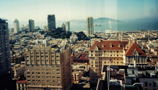 Panoramic views of San Francisco from the Top of the Mark.