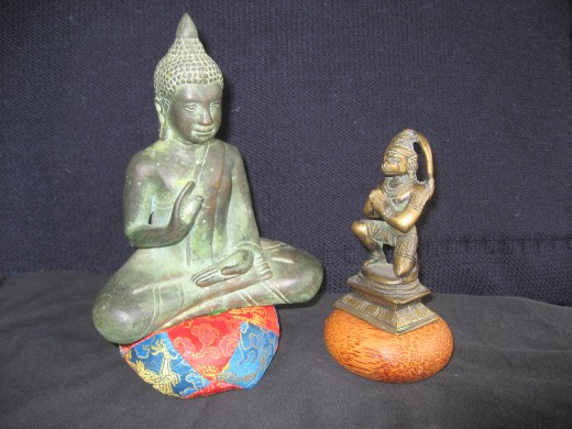 Buddah discusses mindfulness with Hanuman