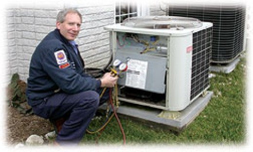 An HVAC Technician