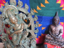 Shiva dances while Buddha meditates