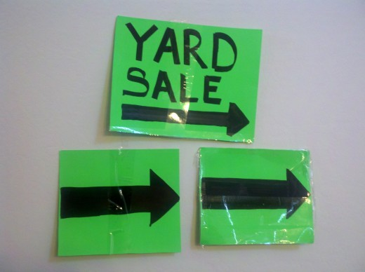 Create signs that are simple and highly visible
