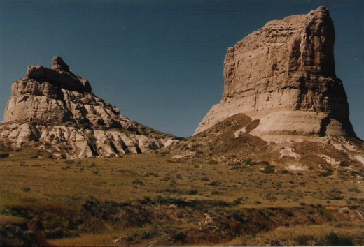 Jail and Courthouse Rocks, Nebraska.