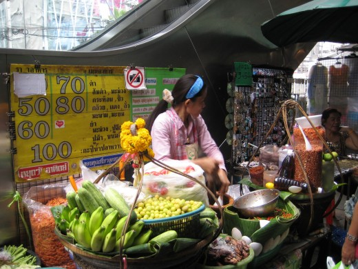 Som Tom Street Vendor
