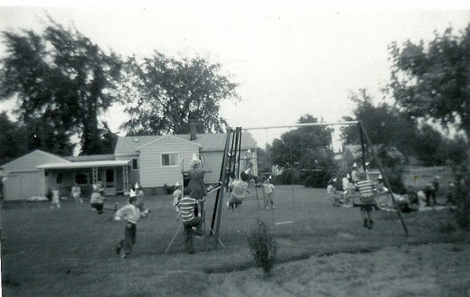 Neighborhood Backyard Fun (Centerline, Michigan)