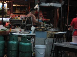 One of the many hard working owner/chef near my condo in Bangkok