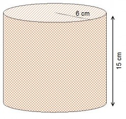 What is the formula for the volume and surface area of a cylinder?
