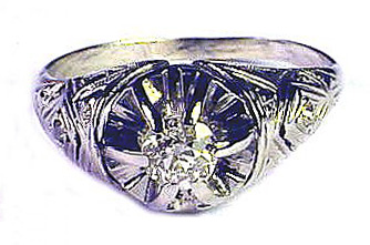 20 pt. OEC Diamond Solitaire/18k Ring, c.1920