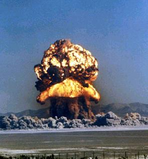 """This controversial photograph is of an """"art nuking"""" that was recently detonated in the Middle East as a fear deterrent."""