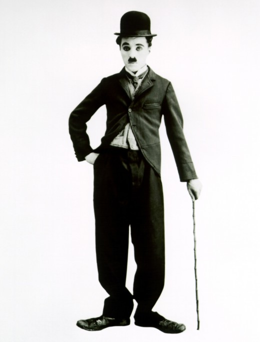 Chaplin in character in the 1910s