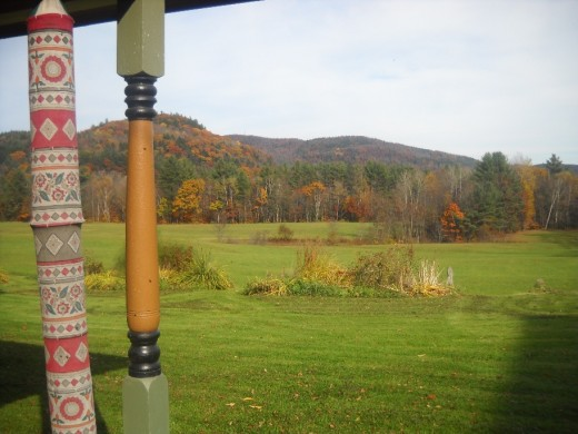The view from the porch of our Bed and Breakfast in Royalton, Vermont.