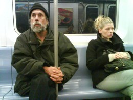 Look out for the homeless guys...