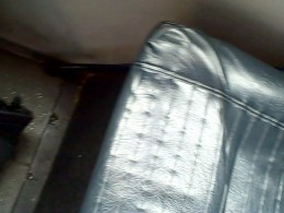 One of five seats on the Access-A-Ride Bus.