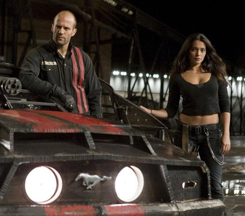 Ultra-hot Natalie Martinez is along for the ride with Jason Statham