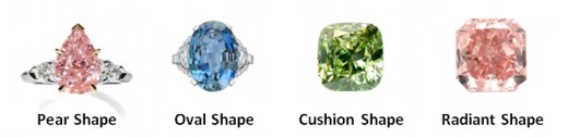 Common Shapes of Fancy Colored Diamonds