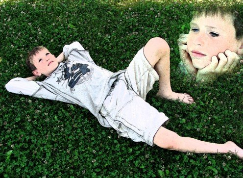 This photomontage was done in the essence of capturing my sons personality through digital collage art.